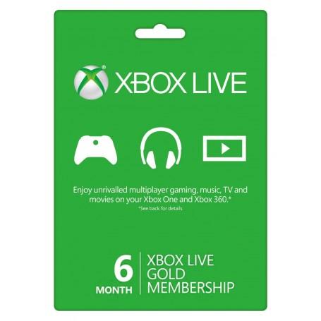 Xbox Live Gold на 6 месяцев