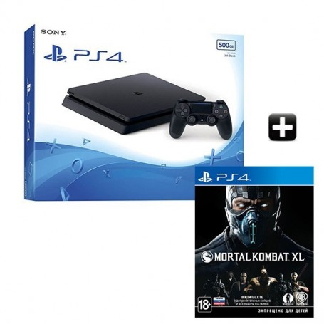 PS4 Slim 500GB + Mortal Kombat XL