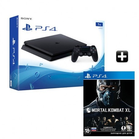 PS4 Slim 1TB + Mortal Kombat XL