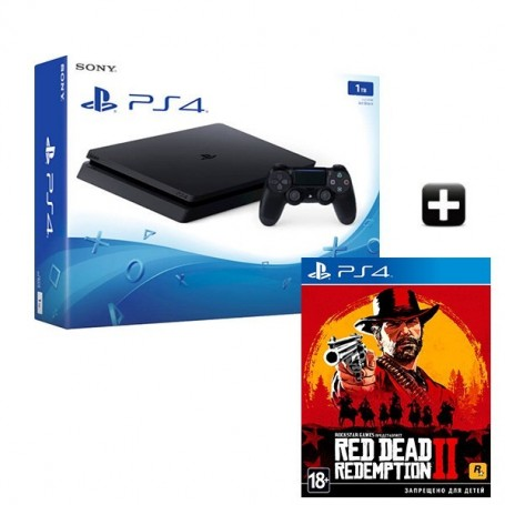 PS4 Slim 1TB +Red Dead Redemption 2