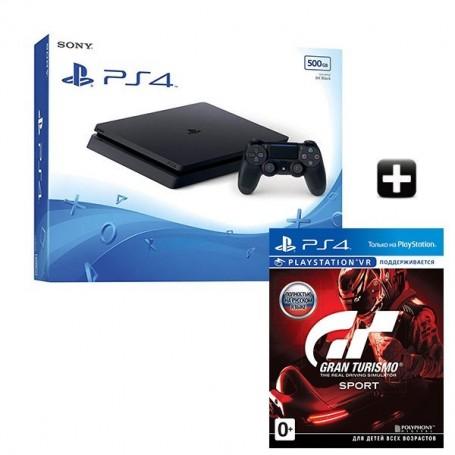 PS4 Slim 500GB + Gran Turismo Sport
