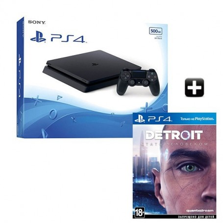 PS4 Slim 500GB + Detroit