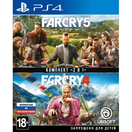 Комплект Far Cry 4 + Far Cry 5 (PS4)