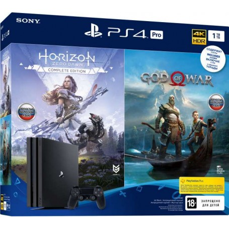 PS4 PRO 1TB + Horizon Zero Dawn Complete Edition + God of War