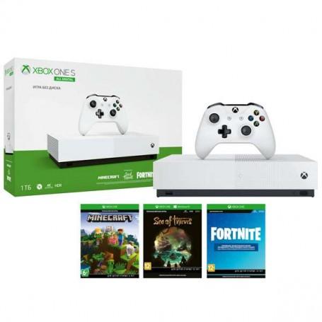 Xbox One S 1TB All-Digital Edition + SoT, Minecraft, Fortnite