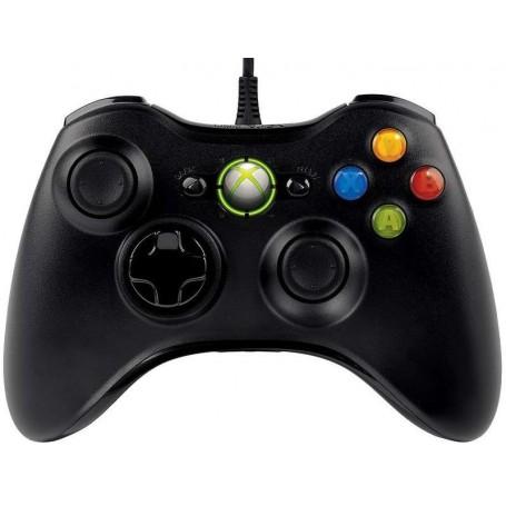 Проводной геймпад Xbox 360 Black (точная копия)