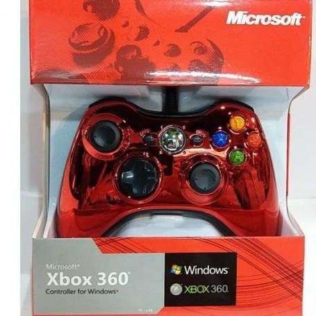 Проводной геймпад Xbox 360 Chrome (точная копия)