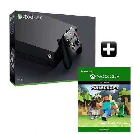 Xbox One X 1TB + Minecraft