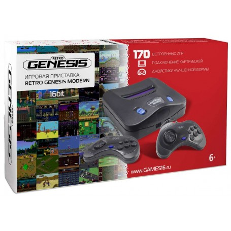 Retro Genesis 16bit Modern + 170 игр