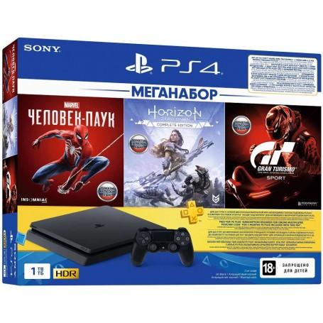 Sony PlayStation 4 Slim c 3 играми и подпиской PS Plus