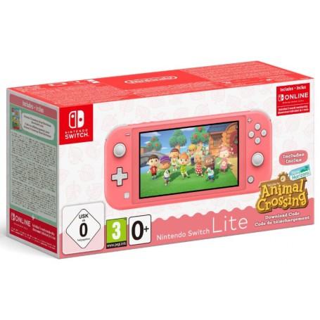 Nintendo Switch Lite (кораллово-розовый) + Animal Crossing: New Horizons + NSO 3мес.