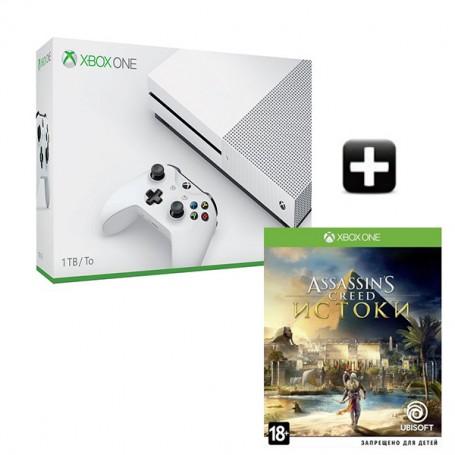 Xbox One S 1TB + Assassin's Creed Истоки