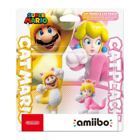Комплект Amiibo Марио-кот и Пич-кошка (коллекция Super Mario)